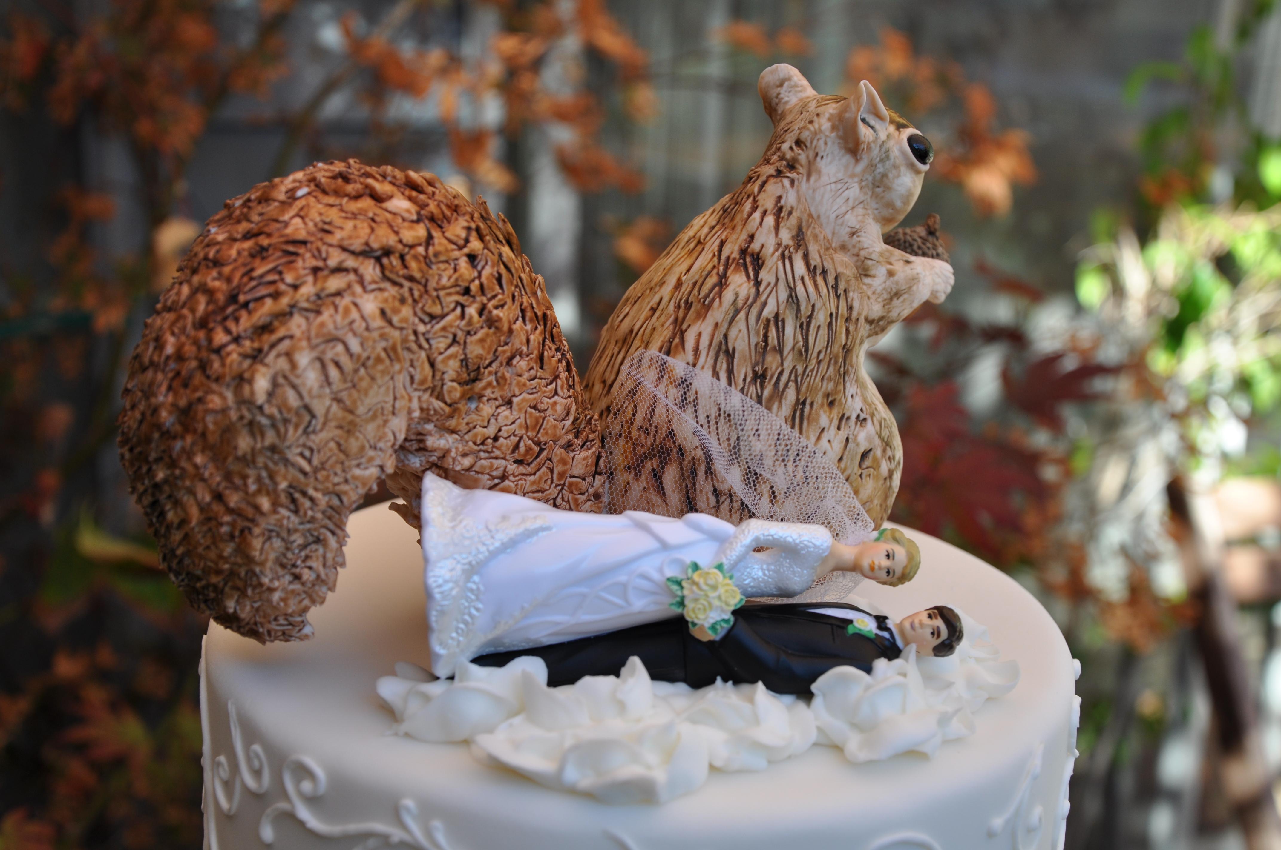 Squirrels Attack Wedding Cake Urban Sweets