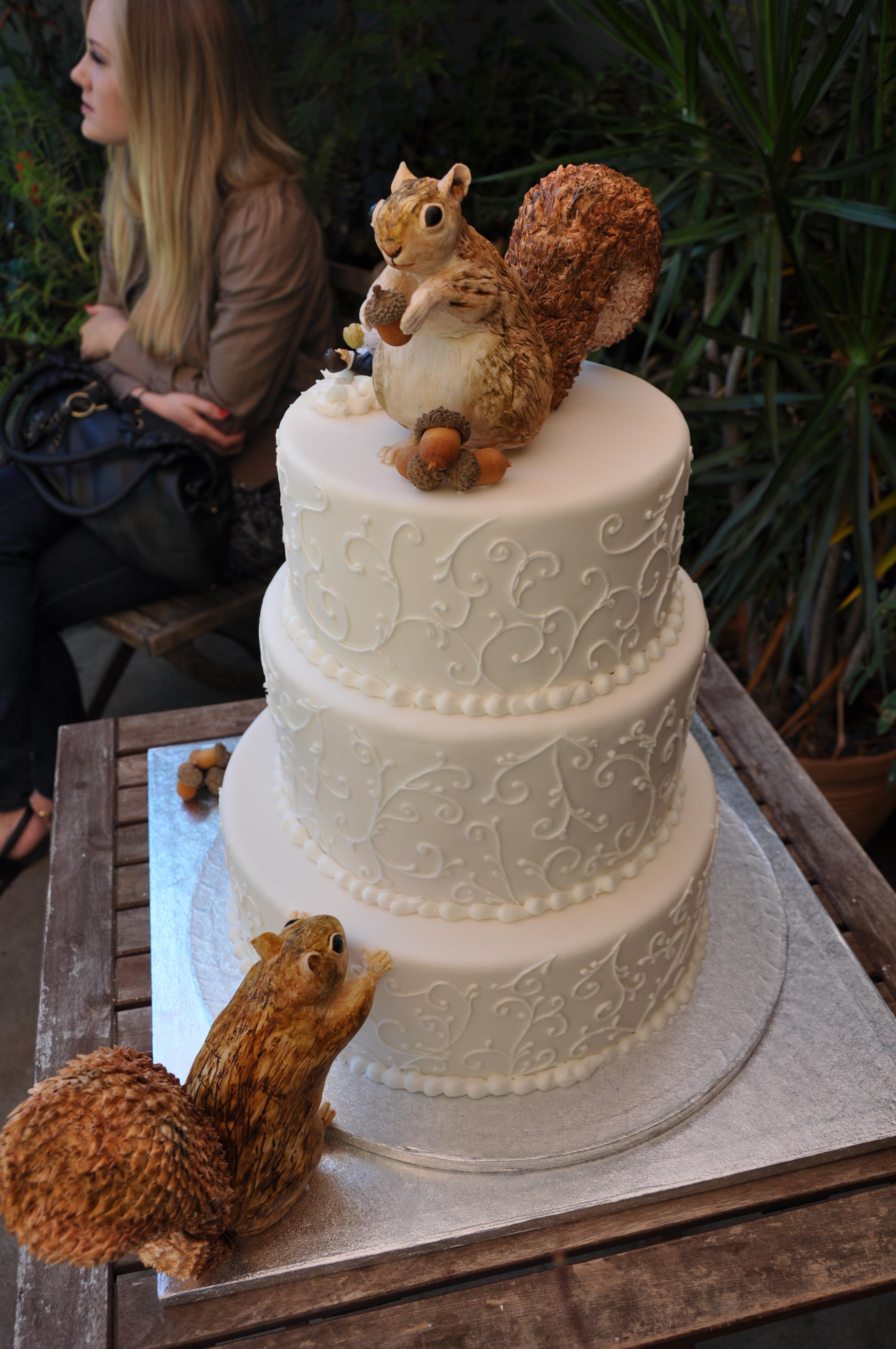 Squirrels Attack Wedding Cake